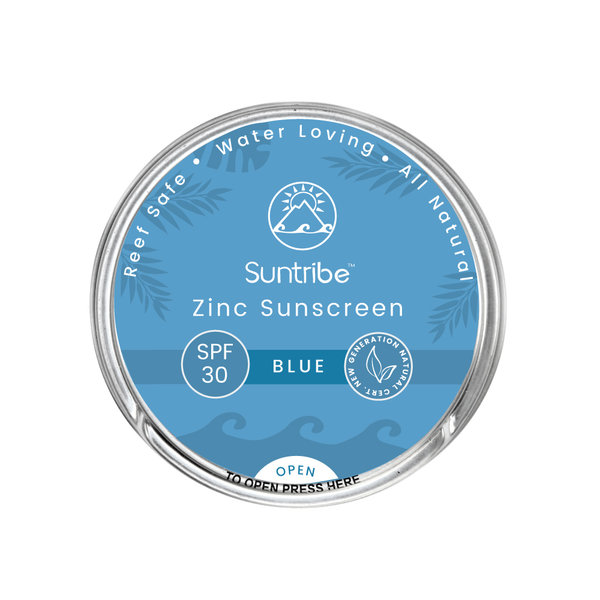 SUNTRIBE FACE & SPORT NATURAL SUNSCREEN - SPF 30 - RETRO BLUE