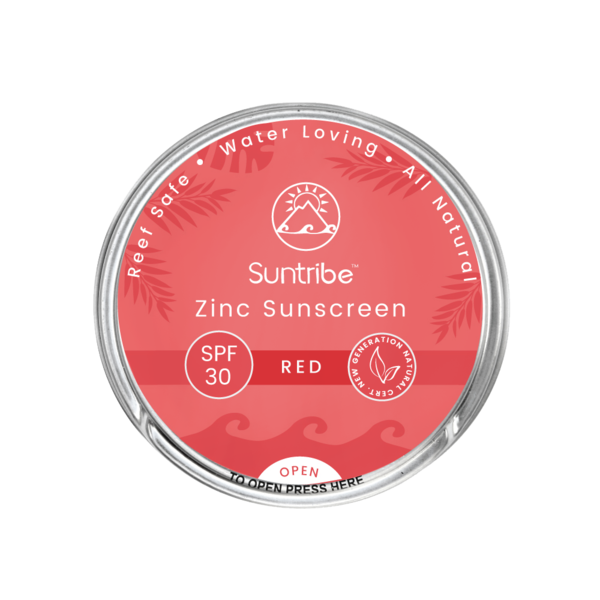 SUNTRIBE FACE & SPORT NATURAL SUNSCREEN - SPF 30 - RETRO RED